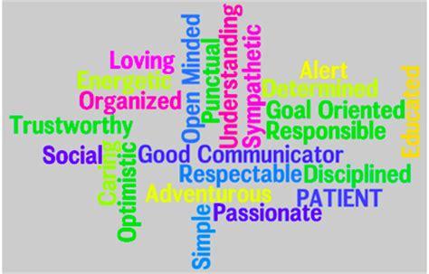 Essay on personal characteristics